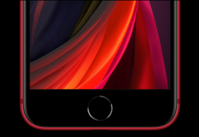 iPhoneSEのPRODUCT REDの画像